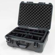 "Nanuk 940 Case w/Padded Divider, 21-11/16""L x 16-7/8""W x 8-1/2""H, Graphite"