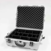 "Nanuk 945 Case w/Padded Divider, 25-1/8""L x 19-7/8""W x 8-13/16""H, Silver"