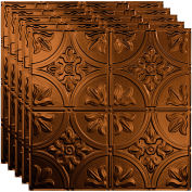 """Fasade Traditional Syle # 2 - 23-3/4"""" x 23-3/4"""" PVC Lay In Tile in Oil Rubbed Bronze - PL5226"""