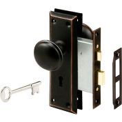 Prime-Line® Classic Bronze Victorian Style Keyed Mortise Entry Lock Set, E 2495