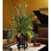 "OfficeScapesDirect 42"" Mixed Cycas & Croton Silk Plant"