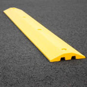 """Yellow Speed Bump with Cable Protection & Hardware - 48"""" Long"""
