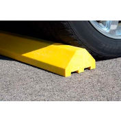 """White Standard Parking Block with Cable Protection & Hardware - 72"""" Long"""