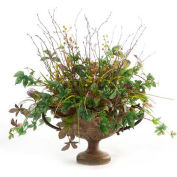 OfficeScapesDirect Mixed Greenery Silk Plant in Urn