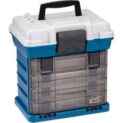 "Plano Molding 136400 Drawer Rack System (1) L (4) S Boxes, 13-5/16""L x 10""W x 13-11/16""H Blue/Silver - Pkg Qty 2"