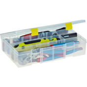 "Plano ProLatch™ StowAway® Utility Box 4-15 Adj Compartment 14""L x 9-1/8""W x 3-1/4""H Clear - Pkg Qty 3"
