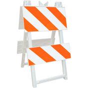 110-WT12B8EG Economical All Plastic Maintenance Free Type II Traffic Barricade, White, Foldable