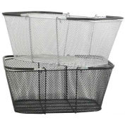 Mesh Shopping Basket, Silver - Pkg Qty 12