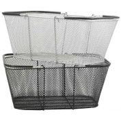 Mesh Shopping Basket, Black, Pack of 12 - Pkg Qty 12