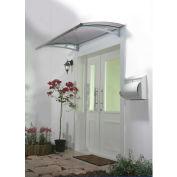 Palram, Aquila 1500 Door Awning, HG9501, 5'L x 3'W, Grey Panel, Aluminum Frame