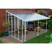 Palram, Feria Patio Cover Sidewall Kit, HG9201,  Clear Panel, White Frame
