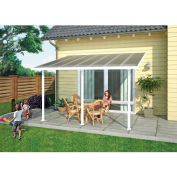 Palram, Feria Patio Cover Sidewall Kit, HG9001, 8'W x 10'H, Clear Panel, White Frame