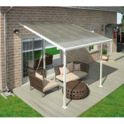 Palram, Feria Patio Cover Kit, HG9226, 26'L x 13'W, Clear Panel, White Frame