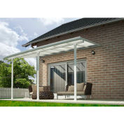 Palram, Feria Patio Cover Kit, HG9242, 42'L x 13'W, Clear Panel, White Frame