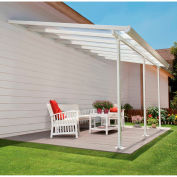 Palram, Feria Patio Cover Kit, HG9248, 48'L x 13'W, Clear Panel, White Frame