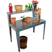 "Galvanized Potting Bench, 24""L x 44""W x 44""H"