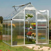 Nature™ 6' X 6' Greenhouse, Silver Frame, Twin-Wall - Pkg Qty 2