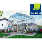 Palram Nature™ Americana Hobby Greenhouse HG5212, 12' L X 12' W, Silver