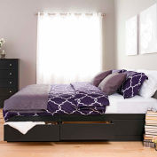 Prepac Manufacturing Black King Mate's Platform Storage Bed with 6 Drawers