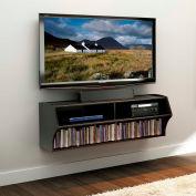 Prepac Manufacturing Black Altus Wall Mounted Audio/Video Console