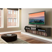"Prepac Manufacturing Black Altus Plus 58"" Floating TV Stand"