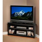 Prepac Manufacturing Black Vasari Corner Flat Panel TV Console