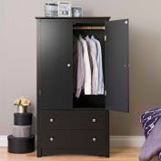 Prepac Manufacturing Black Sonoma 2 Door Armoire