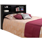 Prepac Manufacturing Black Kallisto Bookcase Headboard with Doors