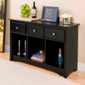 Prepac Manufacturing Black Living Room Console