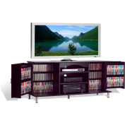 Prepac Manufacturing Premier Large Black Flat Panel TV Console With Media Storage