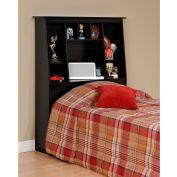 Prepac Manufacturing Black Twin Tall Slant-Back Bookcase Headboard