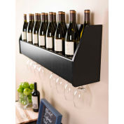 Prepac Manufacturing Floating Wine Rack In Black