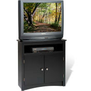 Prepac Manufacturing Black Tall Corner TV Cabinet