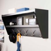 Prepac Manufacturing Floating Entryway Shelf & Coat Rack In Black