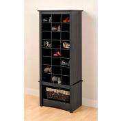 Prepac Manufacturing Black Tall Shoe Cubbie Cabinet