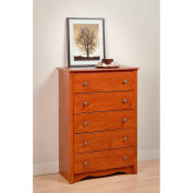 Prepac Manufacturing Cherry Monterey 5 Drawer Chest