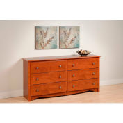 Prepac Manufacturing Cherry Monterey 6 Drawer Dresser