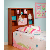 Prepac Manufacturing Cherry Twin Tall Slant-Back Bookcase Headboard
