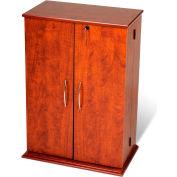 Prepac Manufacturing Cherry & Black Locking Media Storage Cabinet