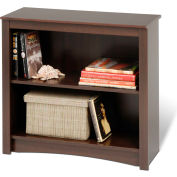 Prepac Manufacturing Espresso 2-Shelf Bookcase