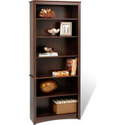 Prepac Manufacturing Espresso 6-Shelf Bookcase