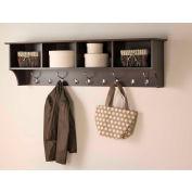 "Prepac Manufacturing Espresso 60"" Wide Hanging Entryway Shelf"