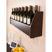 Prepac Manufacturing Floating Wine Rack In Espresso