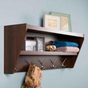 Prepac Manufacturing Floating Entryway Shelf & Coat Rack In Espresso