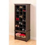 Prepac Manufacturing Espresso Tall Shoe Cubbie Cabinet