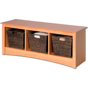 Prepac Manufacturing Maple Cubbie Bench
