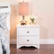Prepac Manufacturing White Monterey 2 Drawer Nightstand