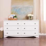 Prepac Manufacturing White Monterey 6 Drawer Dresser