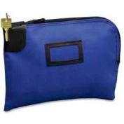 "PM® SecurIT® Nylon Night Deposit Bag, 12"" x 9"", Blue, 1 Each"