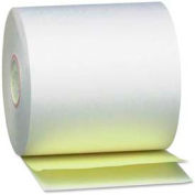 "PM® SecurIT Teller Paper Rolls, 3-1/4"" x 80', White/Canary, 60 Rolls/Carton"